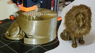 To Kill or Not to Kill the Print - 3D Printed Hairy Lion