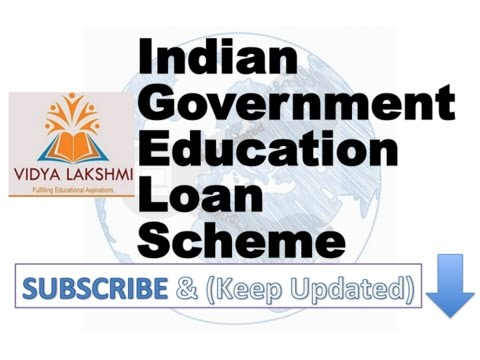 Indian Government Education Loan Scheme Vidya Lakshmi