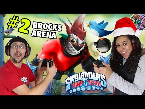 us-vs.-brock!-w/-winterfest-lob-star-(trap-team-arenas-part-2)-phoenix-nest-skylanders-gameplay