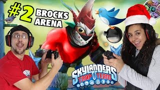 Us vs. Brock! w/ WinterFest LOB STAR (Trap Team Arenas Part 2) Phoenix Nest Skylanders Gameplay