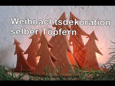 weihnachtsschmuck dekoration mit teelicht aus ton zum selber machen 4 youtube. Black Bedroom Furniture Sets. Home Design Ideas