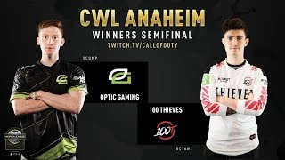 Optic Gaming vs 100 Thieves | CWL Anaheim 2019 | Day 2
