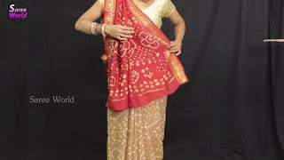 How To Wear Saree In Gujarati Style Step By Step