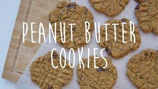 Easy Vegan Peanut Butter Chocolate Cookies