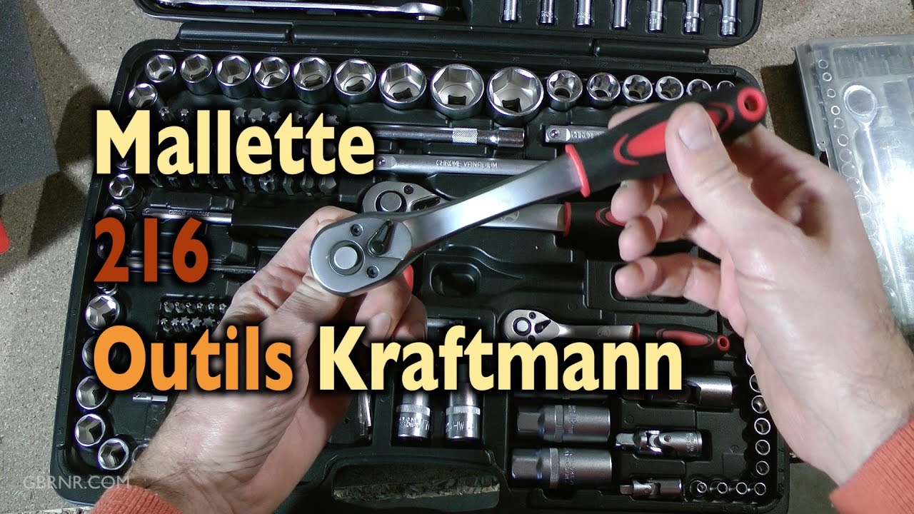 prez outils mallette 216 outils kraftmann youtube. Black Bedroom Furniture Sets. Home Design Ideas