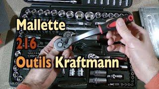 🔧 Prez outils: Mallette 216 outils Kraftmann ✅