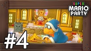 Super Mario Party: Walkthrough Part 4 - Kamek's Tantalizing Tower (4 Players Gameplay)