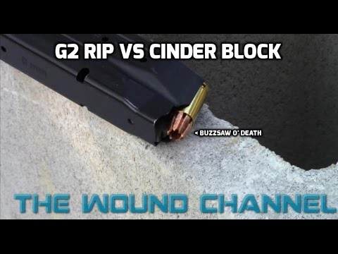G2 RIP 9mm Vs Cinder Block