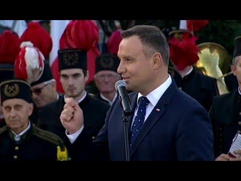 Mocne wystąpienie Prezydenta Andrzeja Dudy o Śląsku, reformie sądownictwa i wieku emerytalnym Tuska