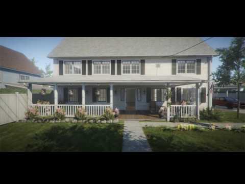 Suburb Neighbordhood House Pack - Unity Demo Video
