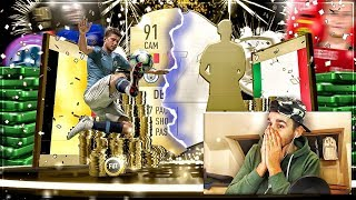 FIFA 19: 4. ICON & 91+ WALKOUT IN FIFA 19 TOTGS PACK OPENING ft. IF KANTE + POTM REUS SBC 😍 | Paato