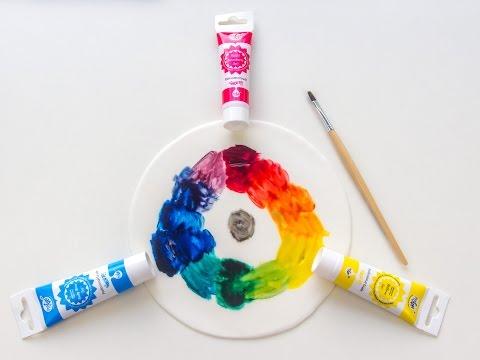 kunstunterricht grundschule farbkreis farben mischen. Black Bedroom Furniture Sets. Home Design Ideas