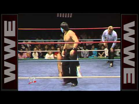 The Great Muta debuts against Cougar Jay: World Championship Wrestling, March 18, 1989