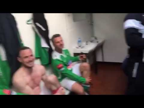 "Jimmy Bullard's Leatherhead  singing 'Worlds Greatest"" after beating Billericay Town"