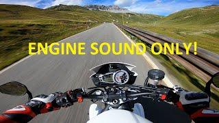Stelvio Pass - Triumph Street Triple 675R QUICKSHIFTER Sound - MASS exhaust [RAW Onboard]