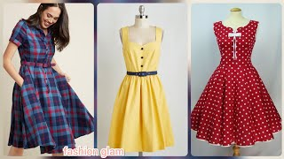 gorgeous a-line casual midi dresses/women's skater dress