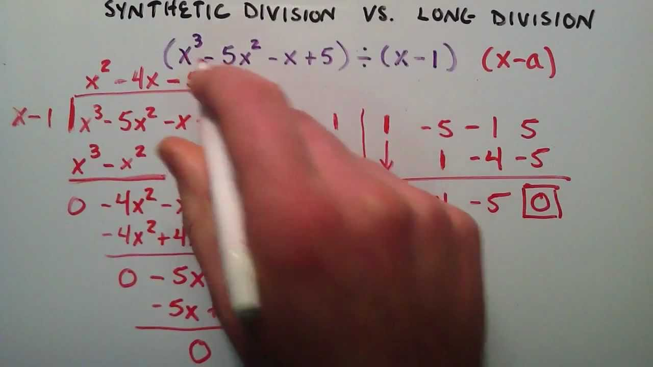 small resolution of Synthetic Division vs. Long Division - YouTube