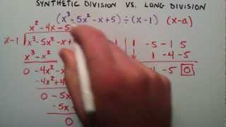 Synthetic Division vs. Long Division