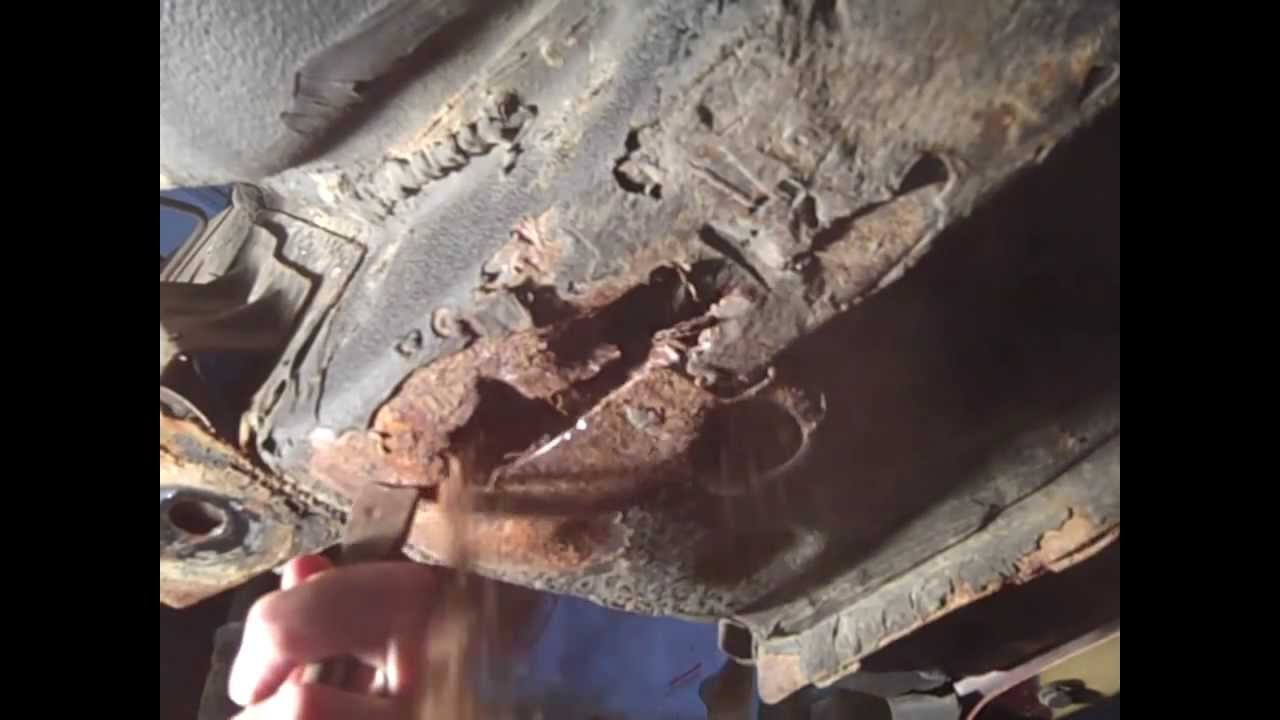 Patching extensive unibody frame rust - YouTube
