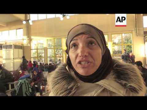 Migrants stranded at Greek port of Piraeus