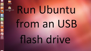 How to install Ubuntu from usb to usb