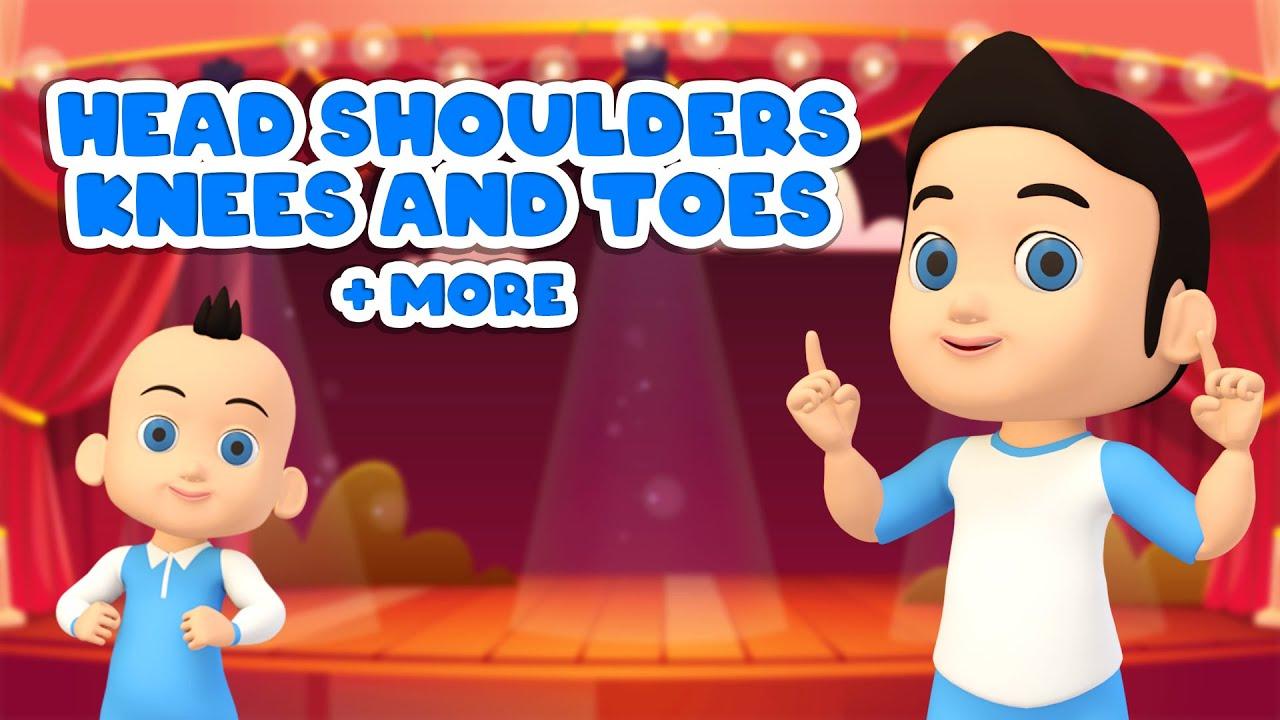 Head Shoulders Knees and Toes + More Nursery Rhymes Song