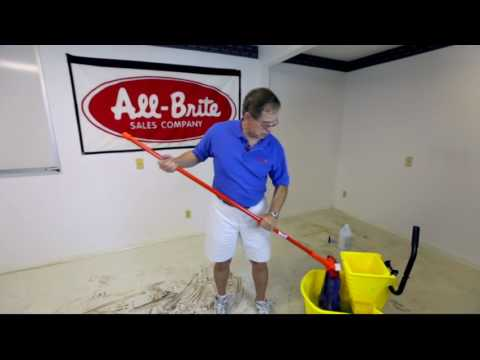 How to Clean VCT or Concrete Floors with All-Brite Sales in Jacksonville, FL - 2017