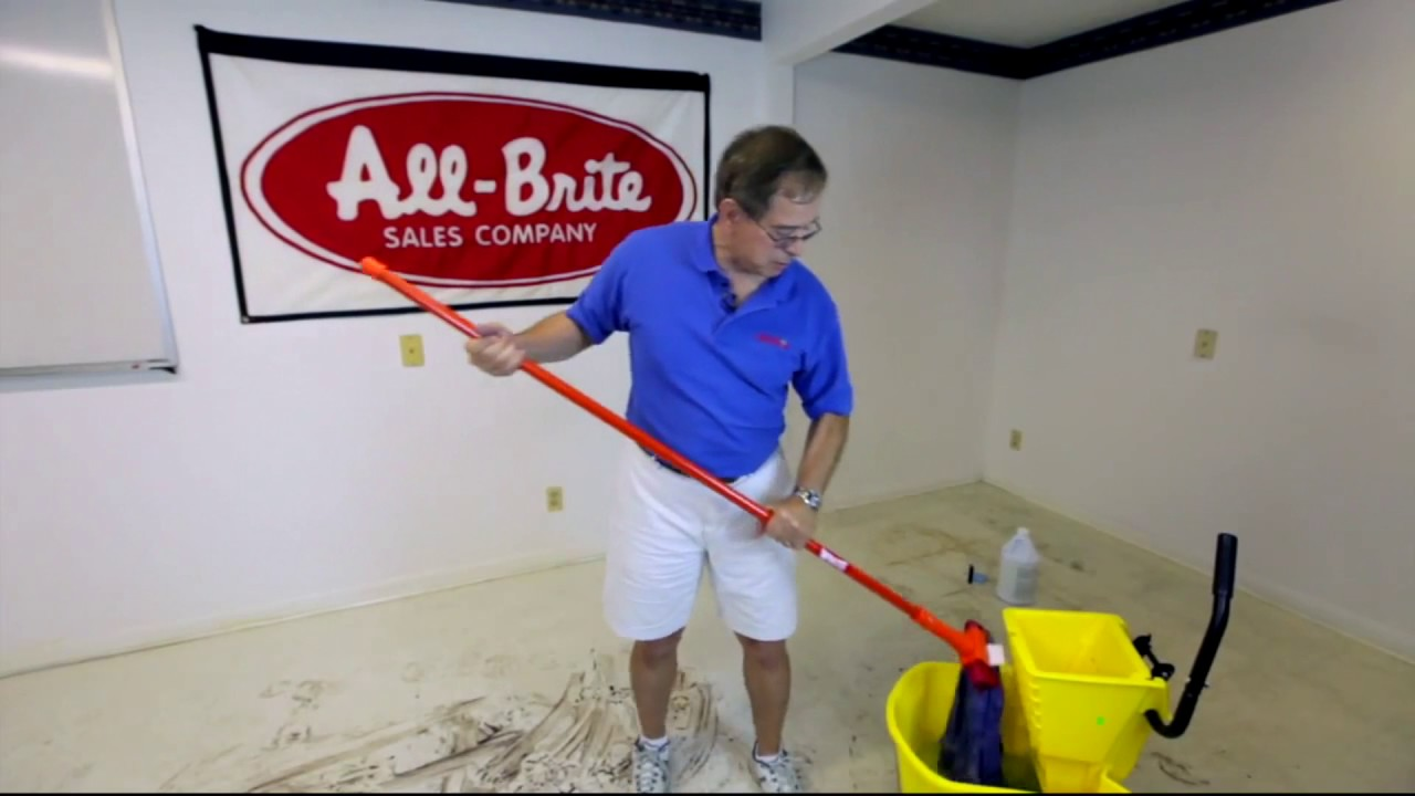 How To Clean Vct Or Concrete Floors With All Brite S In Jacksonville Fl 2017
