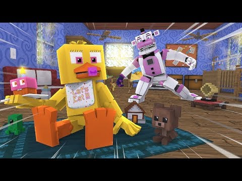 Minecraft FNAF- Funtime Freddy Babysits Baby Chica- Minecraft Roleplay