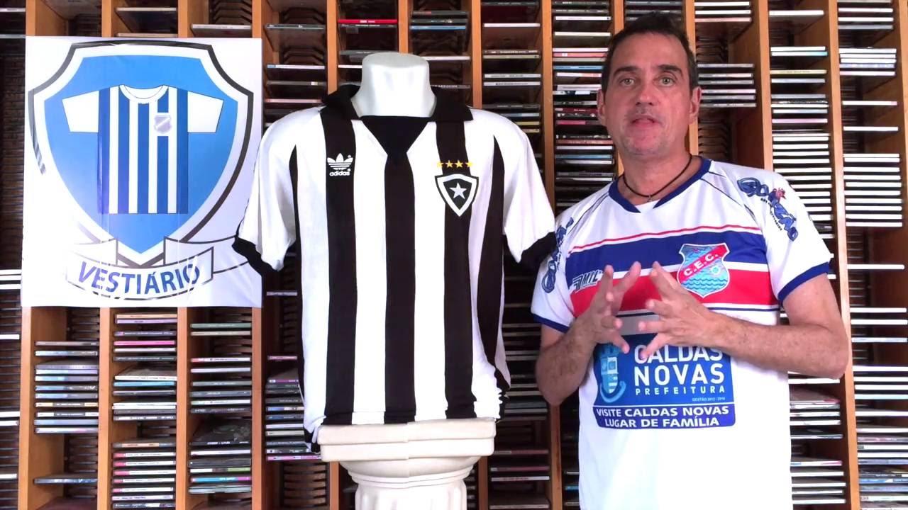 5f55681bf0f95 Botafogo 1987 Adidas com jeitão de anos 60 - Vestiário - Iuri Godinho