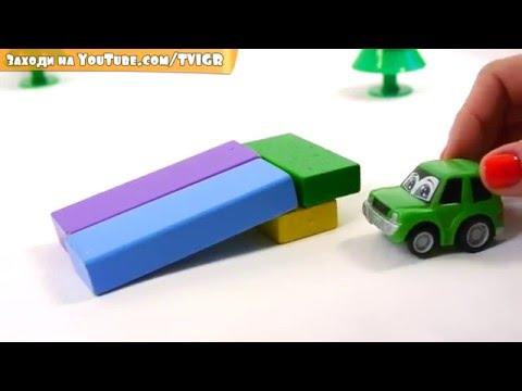 Мультфильм про игрушечные машины: эвакуатор, полицейская машина и Макс