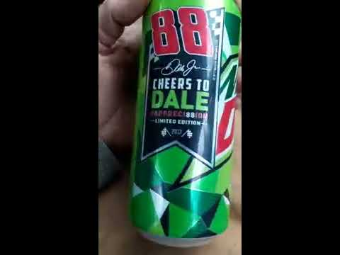 Dale Earnhardt JR #Appreci88ion Limited Edition Mountain Dew Can!! Alpena Michigan 2017!!