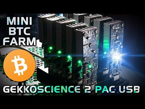 Mini Bitcoin Mining Farm: Gekkoscience 2PAC USB (SHA256) How To