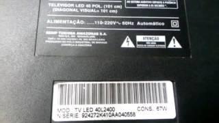 #08 Teste das barras de LED tv semp Toshiba sti TV led 40l2400