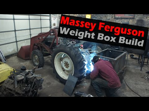 DIY Scrap Metal Tractor Ballast Weight Box for $100 or less!