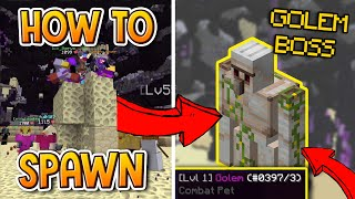 Hypixel Skyblock | HOW TO SPAWN THE GOLEM BOSS! (NEW UPDATE)