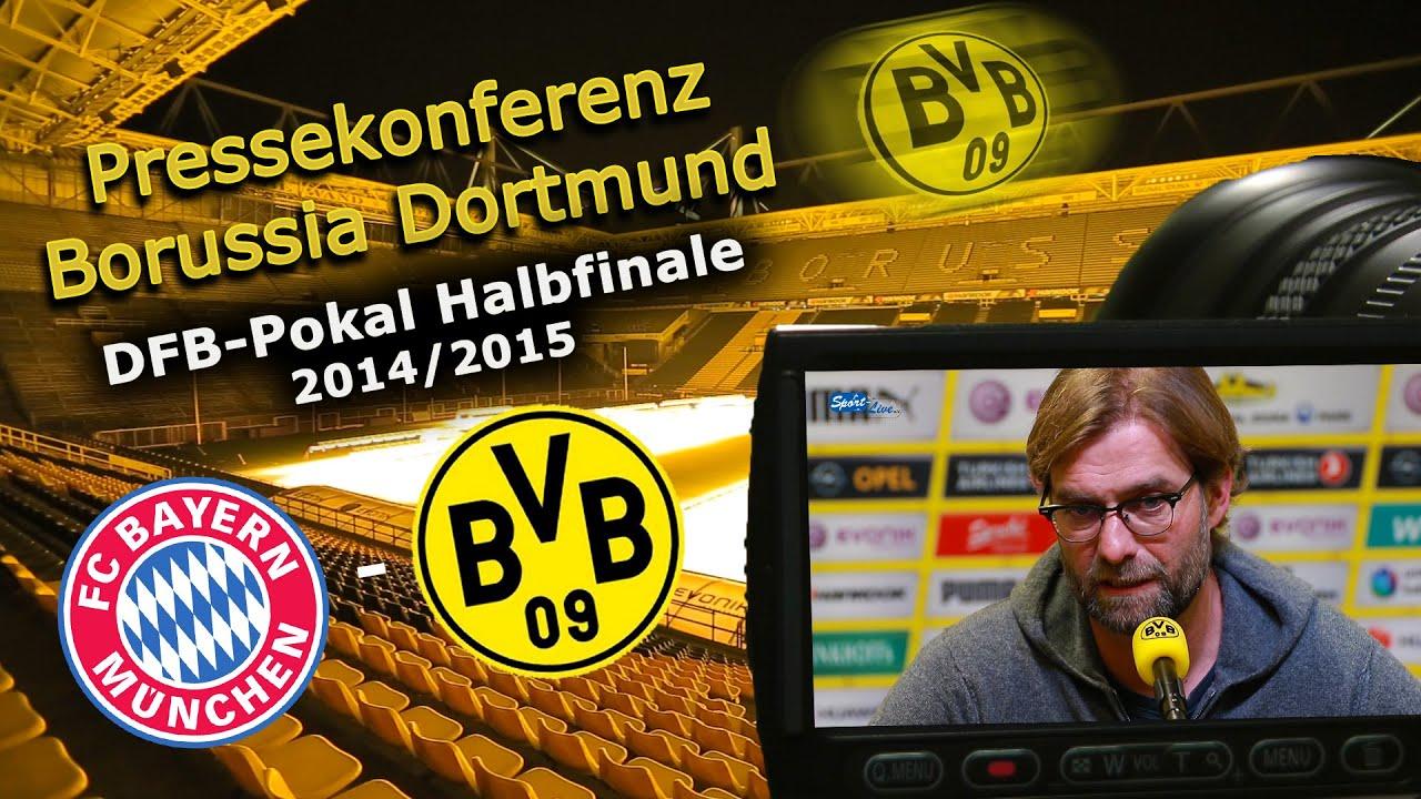 DFB-Pokal Halbfinale : FC Bayern München - Borussia Dortmund : Pk mit Jürgen Klopp
