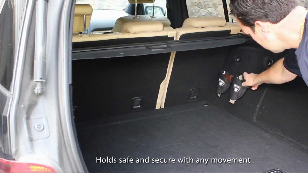 Ez Pistol Holder Car Trunk Youtube