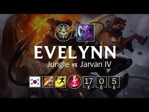 Evelynn Jungle vs Jarvan IV - KR Challenger Patch 8.3