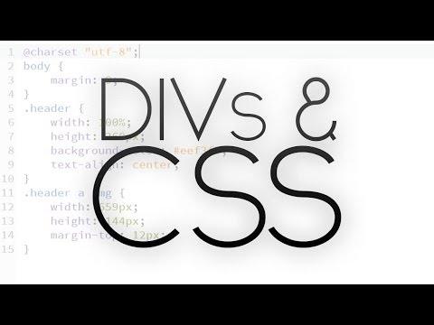 DIVs and CSS   Beginner Tutorial