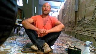 IL MOSAICO DI ANDREINA- 2015- Luca Riggio mosaicista da Genova, volontario al mosaico