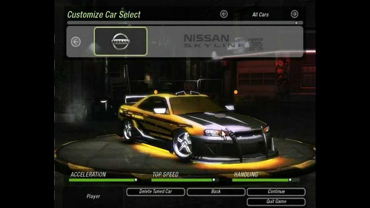 Need For Speed Underground 2 - Tuning NISSAN SKYLINE - YouTube