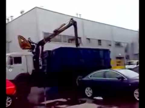 How they treat NO Parking Cars in Russia