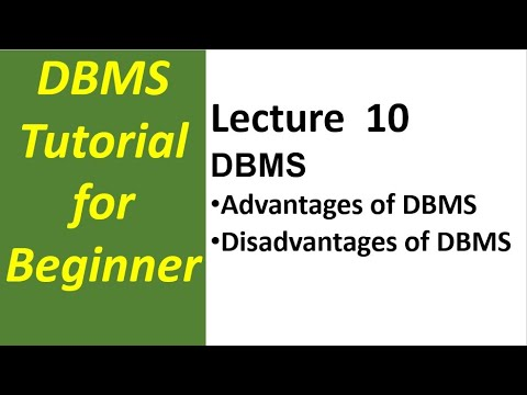 Lecture 10 Advantages And Disadvantages Of Database Management System