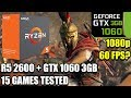 Ryzen 5 2600 paired with a GTX 1060 3gb - Enough For 60 FPS? - 15 Games Tested - 1080p Benchmark PC
