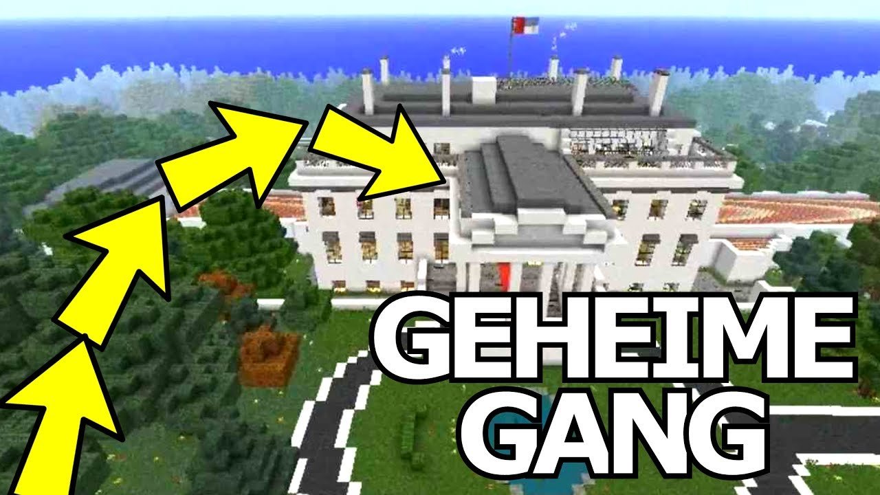 GEHEIME GANG NAAR WITTE HUIS Minetopia Minecraft - Minecraft geheime hauser