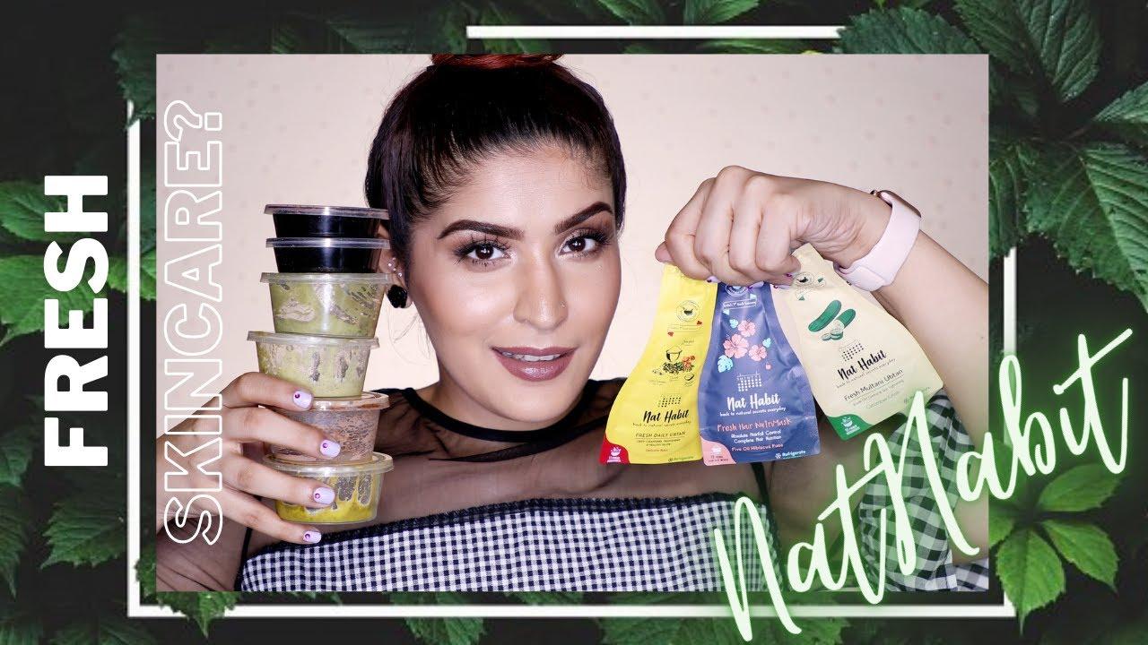 I Tried India's 1st Fresh Natural Skincare Brand   Nat Habit #RevieWednesday   Shreya Jain