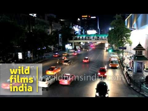 Bangkok traffic night shot