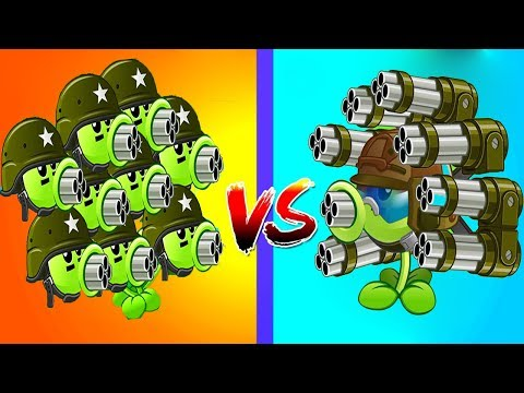 Plants vs Zombies 2 Hack 100% Gatling Pea vs Threepeater Up Pow