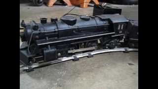 1965 Marx Locomotive Number 666 train set with more track